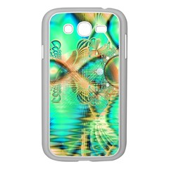 Golden Teal Peacock, Abstract Copper Crystal Samsung Galaxy Grand DUOS I9082 Case (White)