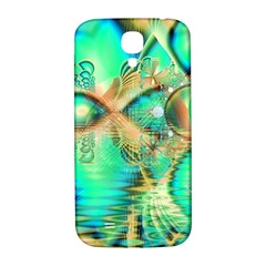 Golden Teal Peacock, Abstract Copper Crystal Samsung Galaxy S4 I9500/I9505  Hardshell Back Case