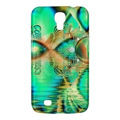 Golden Teal Peacock, Abstract Copper Crystal Samsung Galaxy Mega 6 3  I9200 Hardshell Case