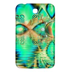 Golden Teal Peacock, Abstract Copper Crystal Samsung Galaxy Tab 3 (7 ) P3200 Hardshell Case