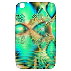 Golden Teal Peacock, Abstract Copper Crystal Samsung Galaxy Tab 3 (8 ) T3100 Hardshell Case