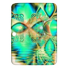 Golden Teal Peacock, Abstract Copper Crystal Samsung Galaxy Tab 3 (10.1 ) P5200 Hardshell Case