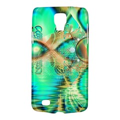 Golden Teal Peacock, Abstract Copper Crystal Samsung Galaxy S4 Active (I9295) Hardshell Case