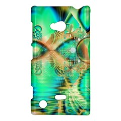 Golden Teal Peacock, Abstract Copper Crystal Nokia Lumia 720 Hardshell Case