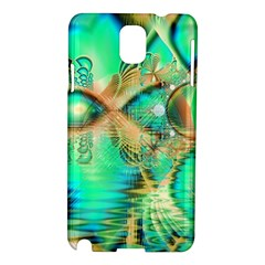 Golden Teal Peacock, Abstract Copper Crystal Samsung Galaxy Note 3 N9005 Hardshell Case