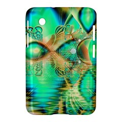 Golden Teal Peacock, Abstract Copper Crystal Samsung Galaxy Tab 2 (7 ) P3100 Hardshell Case