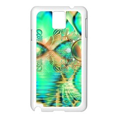 Golden Teal Peacock, Abstract Copper Crystal Samsung Galaxy Note 3 N9005 Case (White)