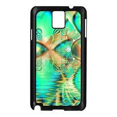 Golden Teal Peacock, Abstract Copper Crystal Samsung Galaxy Note 3 N9005 Case (Black)