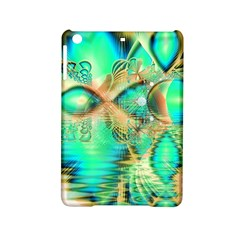 Golden Teal Peacock, Abstract Copper Crystal Apple iPad Mini 2 Hardshell Case