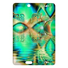 Golden Teal Peacock, Abstract Copper Crystal Kindle Fire HD 7  (2nd Gen) Hardshell Case