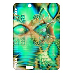 Golden Teal Peacock, Abstract Copper Crystal Kindle Fire HDX 7  Hardshell Case