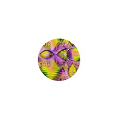 Golden Violet Crystal Heart Of Fire, Abstract 1  Mini Button