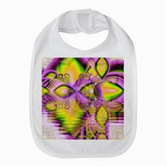 Golden Violet Crystal Heart Of Fire, Abstract Bib
