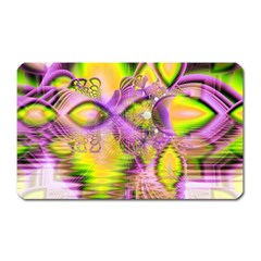 Golden Violet Crystal Heart Of Fire, Abstract Magnet (Rectangular)