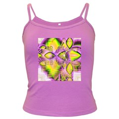 Golden Violet Crystal Heart Of Fire, Abstract Spaghetti Top (Colored)