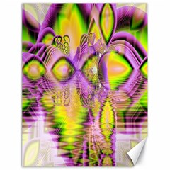 Golden Violet Crystal Heart Of Fire, Abstract Canvas 18  X 24  (unframed)