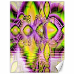 Golden Violet Crystal Heart Of Fire, Abstract Canvas 36  x 48  (Unframed)