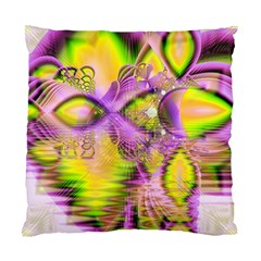 Golden Violet Crystal Heart Of Fire, Abstract Cushion Case (Two Sided)