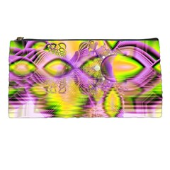 Golden Violet Crystal Heart Of Fire, Abstract Pencil Case