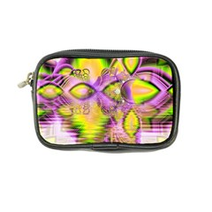 Golden Violet Crystal Heart Of Fire, Abstract Coin Purse