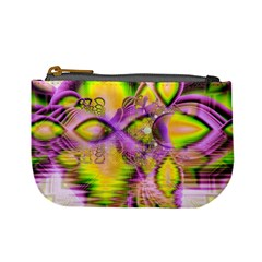 Golden Violet Crystal Heart Of Fire, Abstract Coin Change Purse