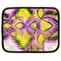 Golden Violet Crystal Heart Of Fire, Abstract Netbook Sleeve (xl)