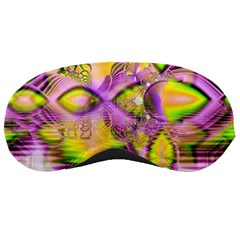 Golden Violet Crystal Heart Of Fire, Abstract Sleeping Mask