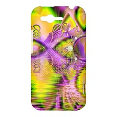 Golden Violet Crystal Heart Of Fire, Abstract HTC Rhyme Hardshell Case