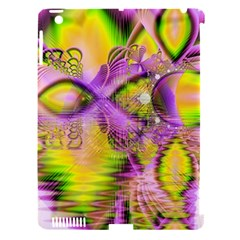 Golden Violet Crystal Heart Of Fire, Abstract Apple Ipad 3/4 Hardshell Case (compatible With Smart Cover)