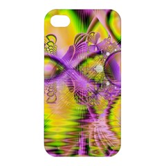 Golden Violet Crystal Heart Of Fire, Abstract Apple iPhone 4/4S Premium Hardshell Case
