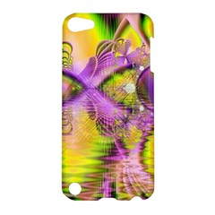 Golden Violet Crystal Heart Of Fire, Abstract Apple Ipod Touch 5 Hardshell Case