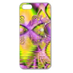 Golden Violet Crystal Heart Of Fire, Abstract Apple Seamless Iphone 5 Case (clear)