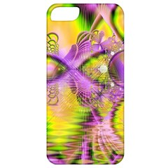 Golden Violet Crystal Heart Of Fire, Abstract Apple Iphone 5 Classic Hardshell Case