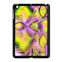 Golden Violet Crystal Heart Of Fire, Abstract Apple Ipad Mini Case (black)