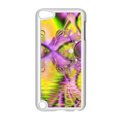 Golden Violet Crystal Heart Of Fire, Abstract Apple Ipod Touch 5 Case (white)