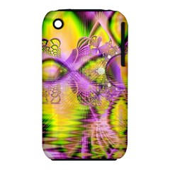 Golden Violet Crystal Heart Of Fire, Abstract Apple iPhone 3G/3GS Hardshell Case (PC+Silicone)