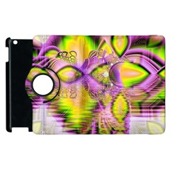 Golden Violet Crystal Heart Of Fire, Abstract Apple Ipad 2 Flip 360 Case