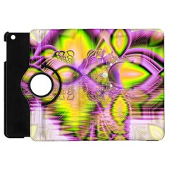 Golden Violet Crystal Heart Of Fire, Abstract Apple Ipad Mini Flip 360 Case