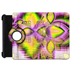 Golden Violet Crystal Heart Of Fire, Abstract Kindle Fire HD 7  (1st Gen) Flip 360 Case