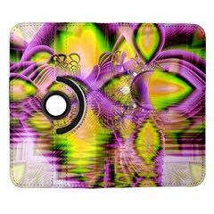 Golden Violet Crystal Heart Of Fire, Abstract Samsung Galaxy Note II Flip 360 Case