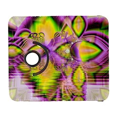 Golden Violet Crystal Heart Of Fire, Abstract Samsung Galaxy S  Iii Flip 360 Case