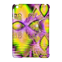 Golden Violet Crystal Heart Of Fire, Abstract Apple iPad Mini Hardshell Case (Compatible with Smart Cover)
