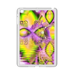 Golden Violet Crystal Heart Of Fire, Abstract Apple iPad Mini 2 Case (White)