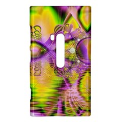 Golden Violet Crystal Heart Of Fire, Abstract Nokia Lumia 920 Hardshell Case