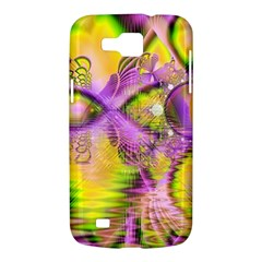 Golden Violet Crystal Heart Of Fire, Abstract Samsung Galaxy Premier I9260 Hardshell Case