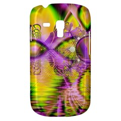 Golden Violet Crystal Heart Of Fire, Abstract Samsung Galaxy S3 Mini I8190 Hardshell Case