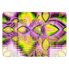 Golden Violet Crystal Heart Of Fire, Abstract Samsung Galaxy Tab 8.9  P7300 Flip Case