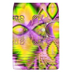 Golden Violet Crystal Heart Of Fire, Abstract Removable Flap Cover (large)