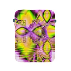 Golden Violet Crystal Heart Of Fire, Abstract Apple iPad Protective Sleeve