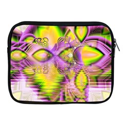 Golden Violet Crystal Heart Of Fire, Abstract Apple Ipad Zippered Sleeve